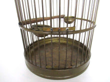 UpperDutch:,Antique Standing Birdcage 22 INCH Solid Brass Bird cage.