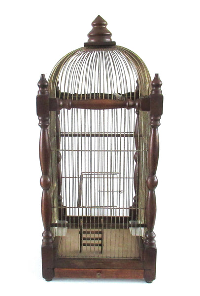 UpperDutch:Birdcage,Antique Wooden Bird Cage.