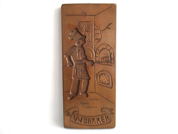 UpperDutch:Cookie Mold,An authentic Dutch Wooden cookie mold Folk Art, bakery decor, Speculaas plank.