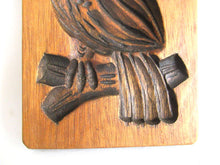 UpperDutch:,Wooden cookie mold Bird, Dutch Folk Art Cookie Mold. Speculaas plank.