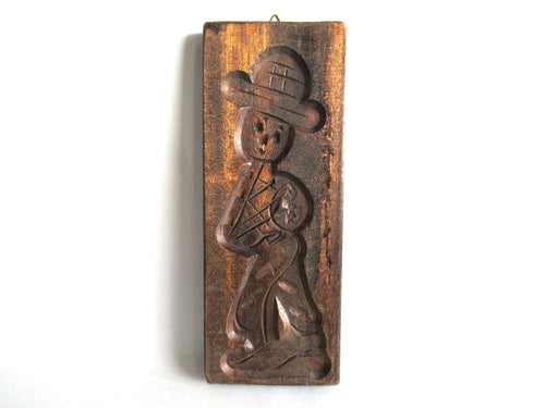 UpperDutch:Cookie Mold,Wooden cookie mold Dutch Folk Art Cookie Mold. speculaas plank, springerle.