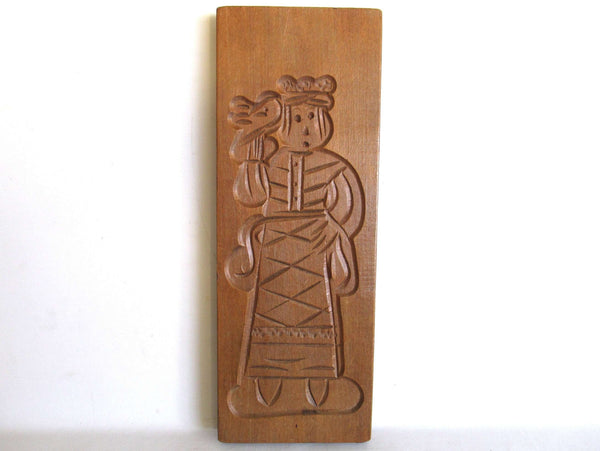 UpperDutch:Cookie Mold,Wooden cookie mold, Dutch Folk Art Cookie Mold. speculaas plank, springerle.