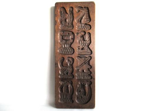 UpperDutch:Cookie Mold,Wooden cookie mold Dutch Folk Art Cookie Mold. Speculaas plank, Springerle, windmill, mermaid, ship.