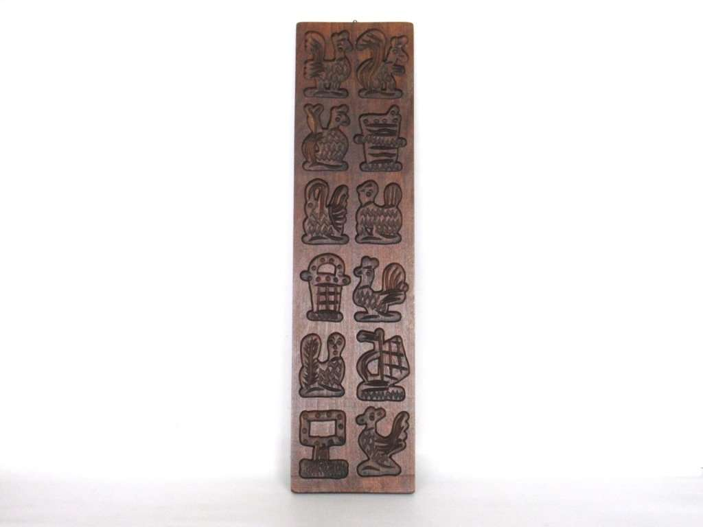 UpperDutch:,Wooden cookie mold. Wooden Dutch Folk Art Cookie Mold. speculaas plank, Springerle.