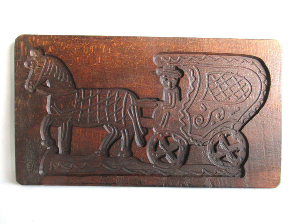 UpperDutch:Cookie Mold,Wooden Springerle mold Horse Dutch Folk Art cookie mold, Bakery decor, Springerle, Horse and Carriage.