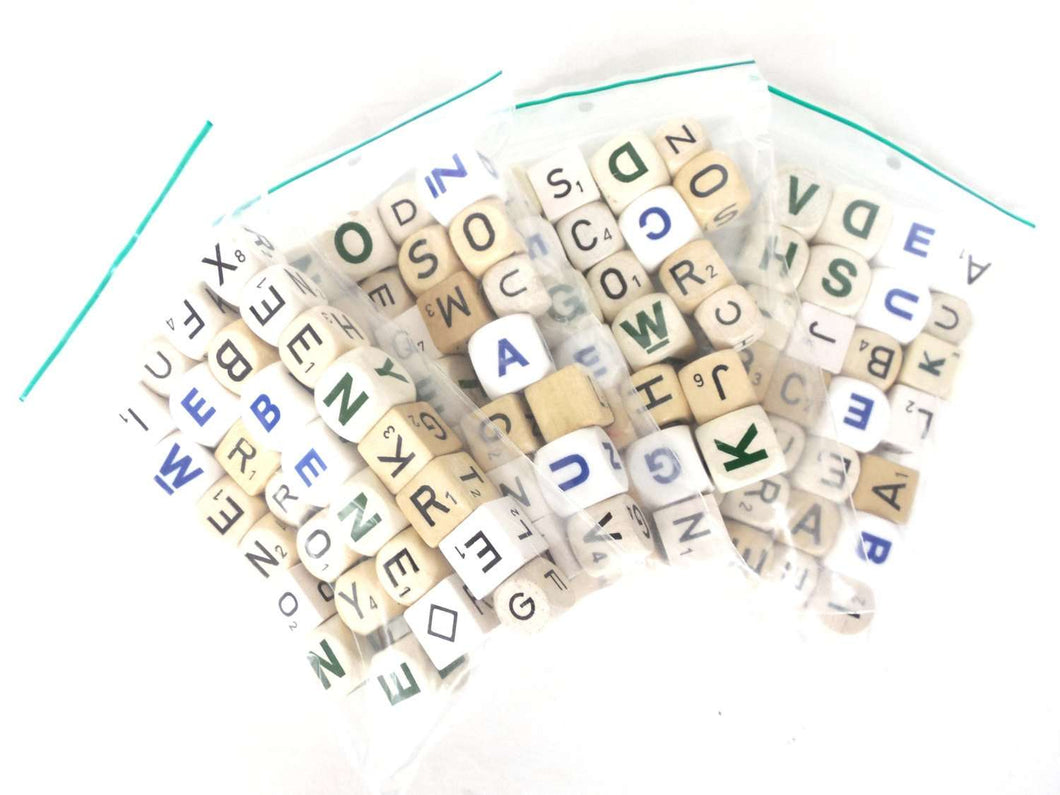 Pcs Mixed Letter Dices Lot Letter Mix Game Pieces Assortment