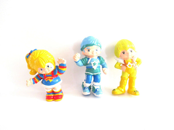 UpperDutch:Figurine,Set of 3 vintage Rainbow Brite 1983 Hallmark pvc figurine's.