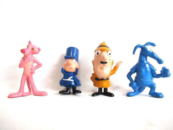 UpperDutch:Figurine,Set of 4 Pink Panther figurines, Sergeant Deux Deux, Aardvark, The Inspector Clouseau.