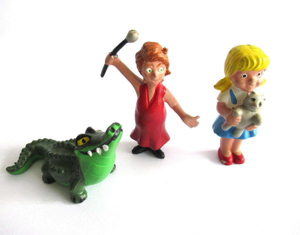 UpperDutch:,The Rescuers Set of 3 vintage Heimo pvc figurine's Penny, Madame Medusa and Brutus.