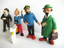 UpperDutch:,TinTin Set of 5 vintage Bully pvc figurine's. Thomson, Snowy, Captain Maddock, Cuthbert Calculus, Herge, Kuifje.