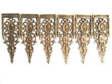 UpperDutch:,1 (ONE) Brass Antique Cabinet Ornament Furniture Applique. Decoration mount, Authentic hardware, restoration supplies