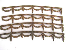 UpperDutch:,1 (ONE) piece Victorian furniture trim. Slightly curved solid brass furniture Applique. Authentic hardware, restoration supply.