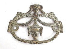 UpperDutch:,1 (ONE) Rams head ornament,Empire style, furniture decoration, antique hardware, escutcheon, restoration hardware, applique.