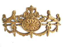 UpperDutch:,1 (ONE) Stunning Heavy Large Brass Antique Cabinet Ornament Furniture Applique Ormolu finish. Decoration mount, Authentic hardware