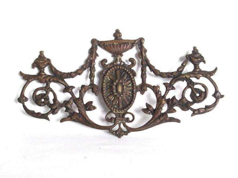 Antique hardware store brass ornaments items plate 19th century  embellishments trim furniture or jewelry  vintage decoration