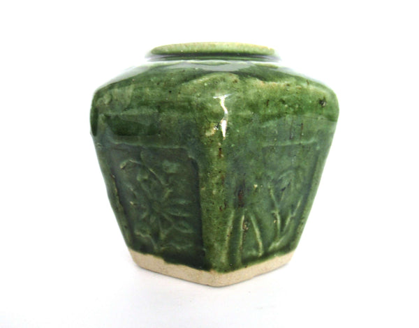 UpperDutch:Ginger Jar,Green Glazed Ginger Jar.