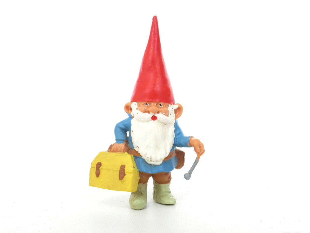 UpperDutch:Gnome,1 (ONE) Doctor Gnome figurine, miniature Gnome after a design by Rien Poortvliet, Brb Gnome, David the Gnome, Doctor