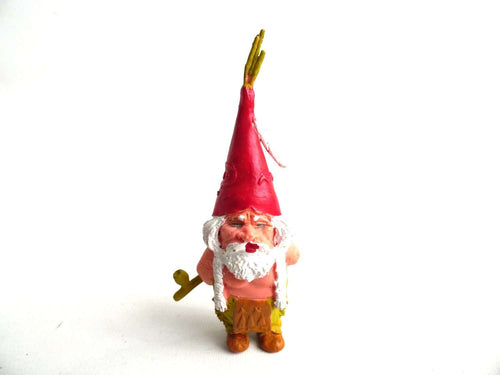 UpperDutch:Gnome,1 (ONE) Gnome figurine, Gnome after a design by Rien Poortvliet, Brb Gnome, David the Gnome.