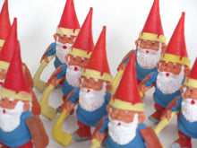 UpperDutch:,1 (ONE) Gnome figurine, Gnome after a design by Rien Poortvliet, Brb Gnome, David the Gnome, gnome playing ice hockey. Goalie