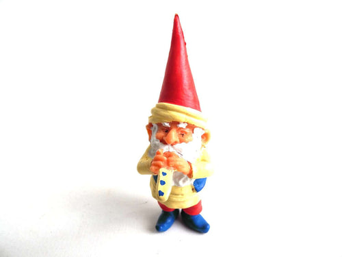 UpperDutch:Gnome,1 (ONE) Gnome figurine, Gnome after a design by Rien Poortvliet, Brb Gnome, David the Gnome. Turban and Flute