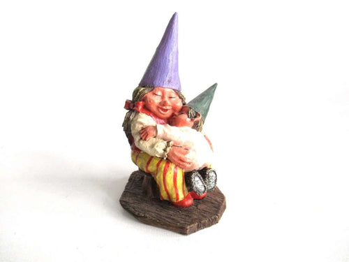UpperDutch:Gnome,Classic Gnomes 'Corrina' Gnome figurine after a design by Rien Poortvliet, Gnome with Baby.