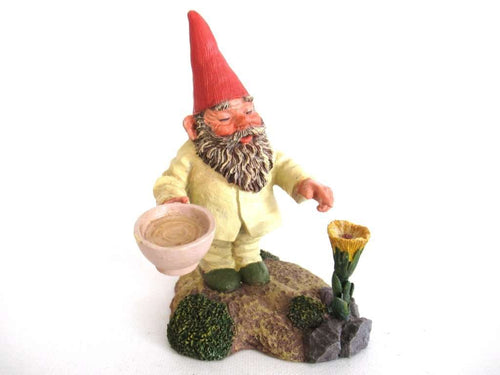 UpperDutch:Gnome,Classic Gnomes 'Michael' Gnome figurine after a design by Rien Poortvliet, Gnome with Flower.