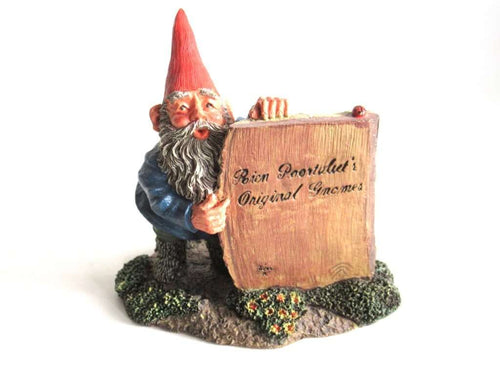 UpperDutch:Gnome,Classic Gnomes 'Moses' after a design by Rien Poortvliet, Gnome Figurine Rien Poortvliet's Original gnomes.