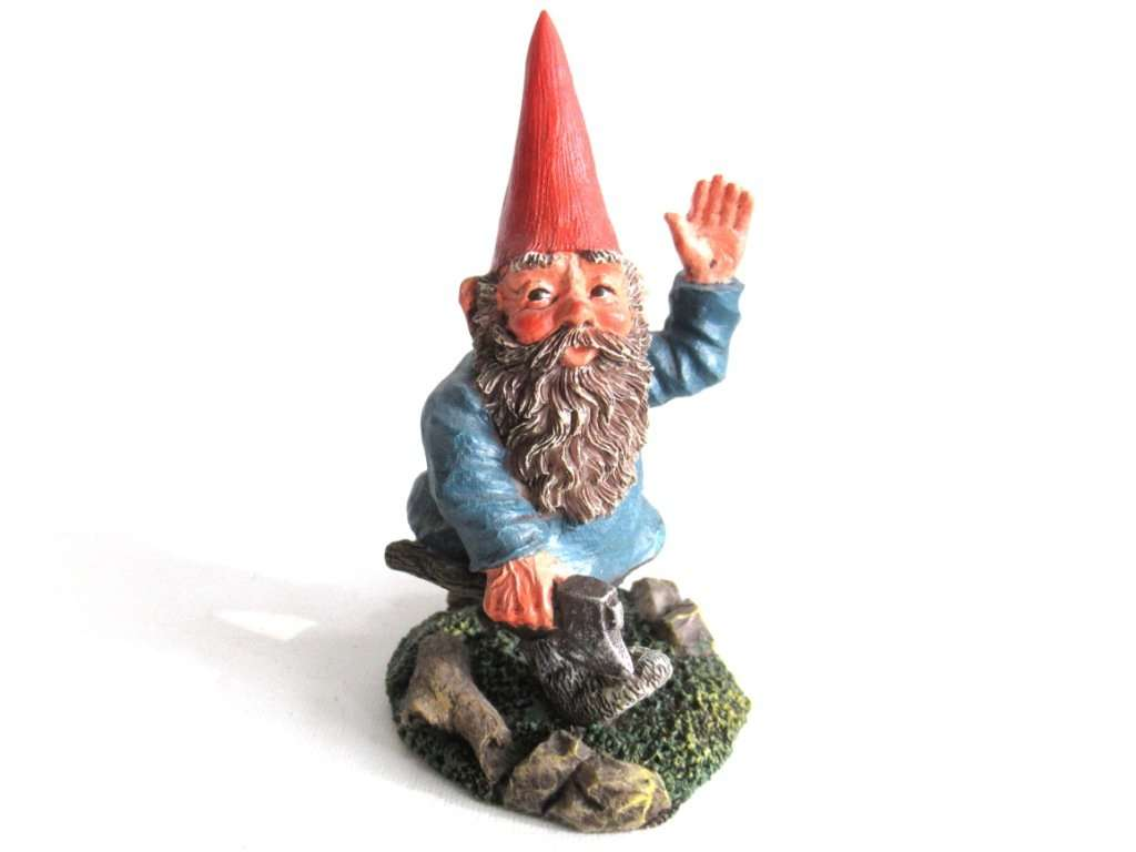 UpperDutch:,Classic Gnomes 'Peter' after a design by Rien Poortvliet Gnome with Axe.