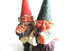 UpperDutch:,Classic Gnomes 'Richard and Rosemary' gnome figurine after a design by Rien Poortvliet.