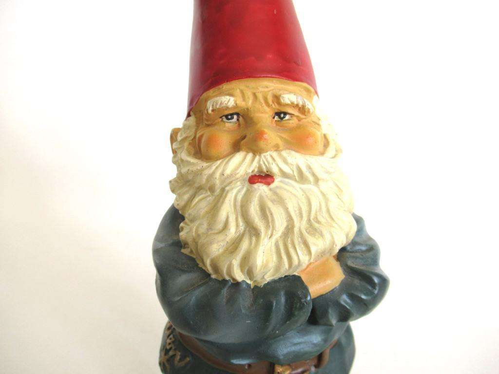 UpperDutch:Gnome,Garden Gnome statue 10 Inch after a design by Rien Poortvliet, David the Gnome.