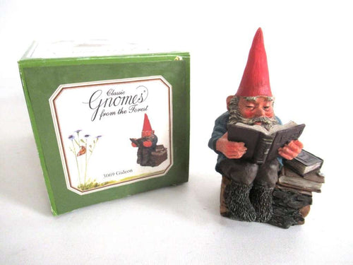 UpperDutch:Gnome,'Gideon' Reading Gnome figurine. Classic gnomes series by AAAAAAA International Co. Ltd. Designed by Rien Poortvliet.