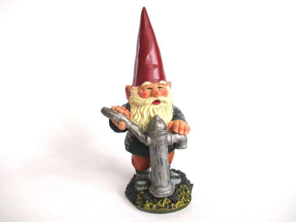 UpperDutch:,Gnome figurine, 9 INCH Gnome statue after a design by Rien Poortvliet, David the Gnome.
