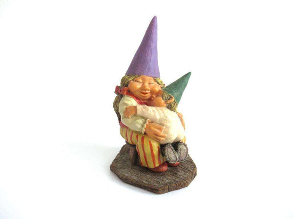 UpperDutch:Gnome,Gnome figurine 'Corrina' after a design by Rien Poortvliet, Gnome with Baby.