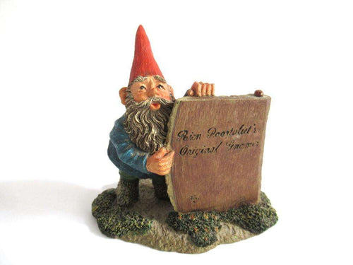 UpperDutch:Gnome,Gnome figurine 'Moses' after a design by Rien Poortvliet, Classic gnomes.