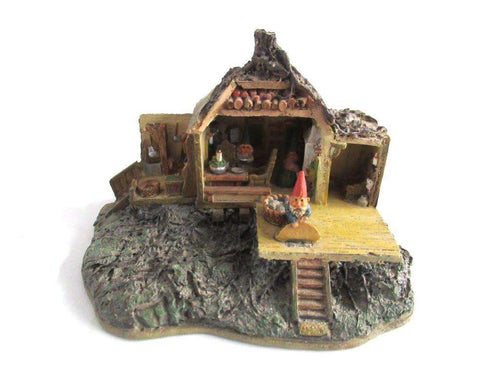 UpperDutch:Gnome,Gnome home 'Open house' Gnome figurine after a design by Rien Poortvliet. Dutch Classic Gnomes Villages series. AAAAAAA International Co. Ltd.