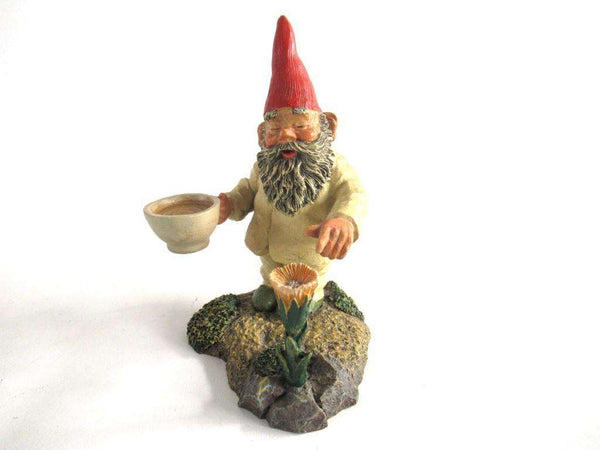 UpperDutch:Gnome,Gnome with Flower, Classic Gnomes 'Michael' Gnome figurine after a design by Rien Poortvliet.