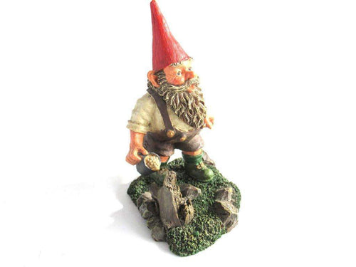 UpperDutch:Gnome,'Hansli' Gnome figurine after a design by Rien Poortvliet. Classic Gnomes