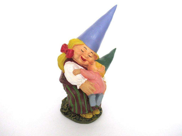 UpperDutch:Gnome,Lisa the Gnome with Child Gnome figurine 8 INCH Gnome after a design by Rien Poortvliet, David the Gnome.