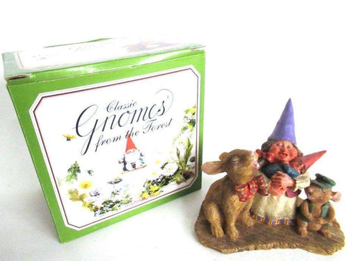 UpperDutch:Gnome,'Living Together' Gnome Figurine in original box after a design by Rien Poortvliet. 3084