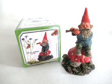 UpperDutch:Gnome,'Mo on Mushroom' after a design by Rien Poortvliet, Gnome on mushroom playing a flute. Classic Gnomes.