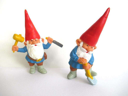 UpperDutch:Gnome,Set of 2 working gnomes after a design by Rien Poortvliet.