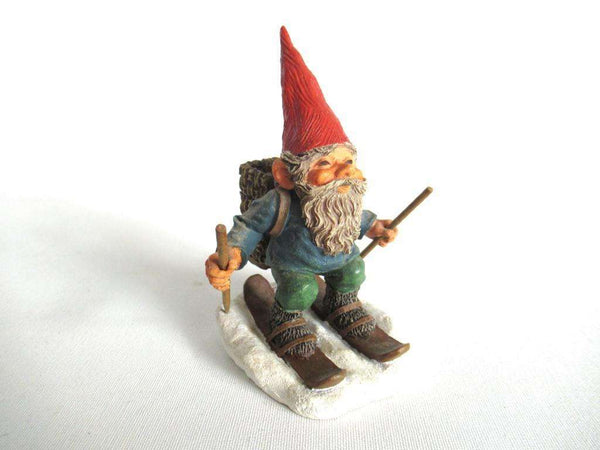 UpperDutch:Gnome,Skiing Gnome 'Paul on Skites'. Part of the 2001 Classic Gnomes series designed by Rien Poortvliet