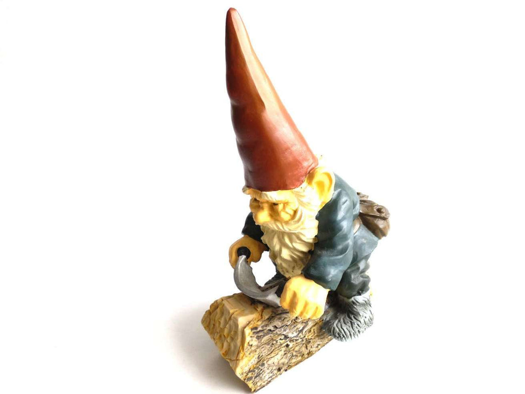 UpperDutch:Gnomes,Gnome figurine - Gnome after a design by Rien Poortvliet - David the Gnome - Working gnome.