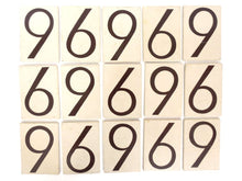 UpperDutch:Numbers,ONE Antique Six or Nine, wooden Number 6 or 9, Authentic Hand painted Number. Room number / Table number, brown old number.