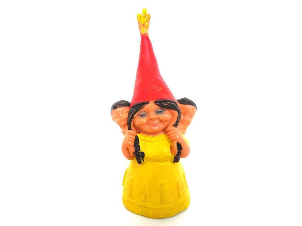UpperDutch:Gnomes,1 (ONE) Gnome figurine, Gnome after a design by Rien Poortvliet, Brb Gnome gnome with babies on her back, Lisa the Gnome.