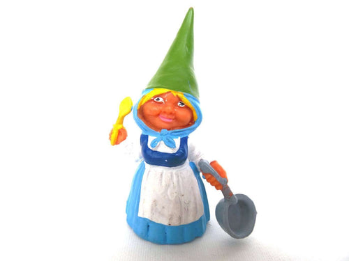 UpperDutch:Gnomes,Gnome figurine, Gnome after a design by Rien Poortvliet, Brb Gnome cooking, Lisa the Gnome.