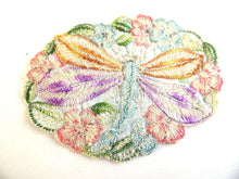 UpperDutch:Sewing Supplies,Antique Applique, Dragonfly Applique, 1930s embroidered dragonfly applique. Vintage patch, sewing supply. Applique, Crazy quilt.