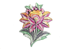 UpperDutch:Sewing Supplies,Flower, Patch, Applique, 1930s vintage embroidered applique. Vintage floral patch, sewing supply.