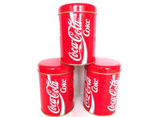 UpperDutch:,Set of 3 Coca Cola Tin. Metal box, Coca Cola Round Storage tin.