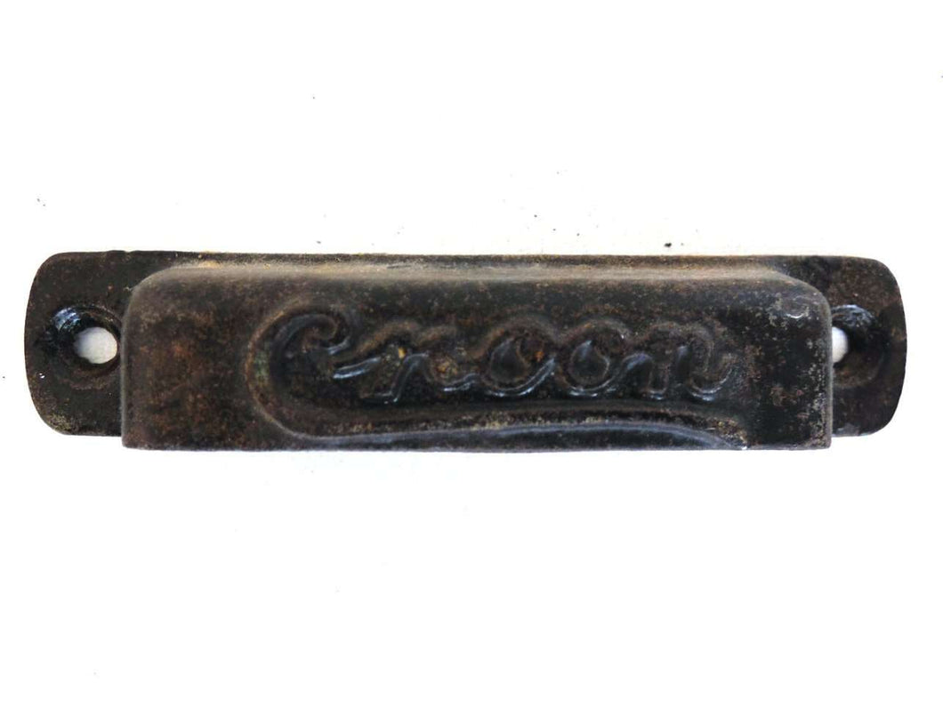 UpperDutch:Hooks and Hardware,1 (ONE) Antique Cast Iron Drawer Handle, Drawer Pull, Antique Cast Iron type tray Handle Pull. Printers Tray Handle, Croon.